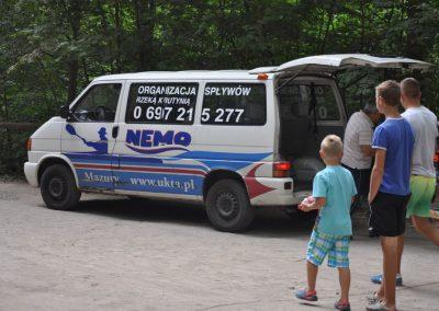 Transport Kajaków Na szlaku rzeki Krutynia